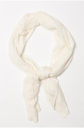 Cream color pleated scarf