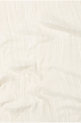 Krémový plisovaný šátek