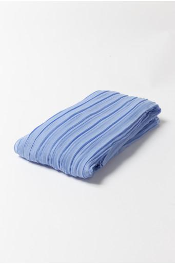 Modrý plisovaný šátek