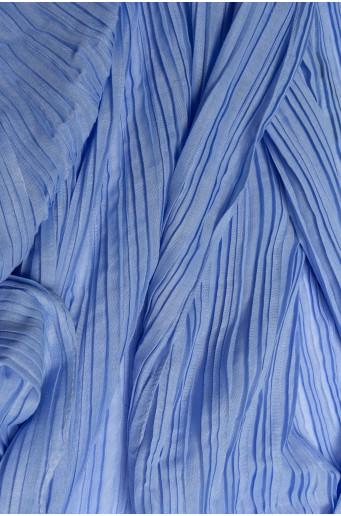 Modrá plisovaná šatka