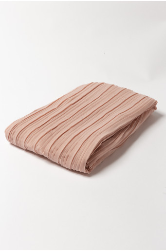 Ružová plisovaná šatka
