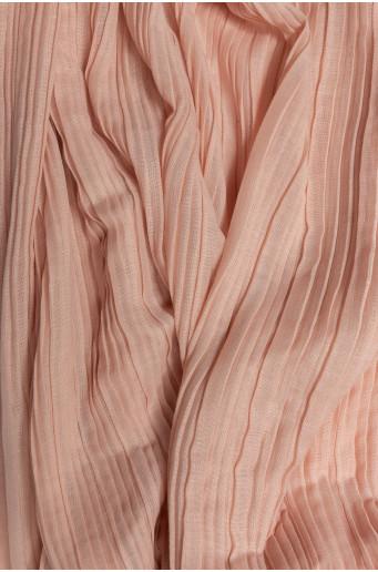 Růžový plisovaný šátek