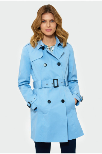 Blue classic trench