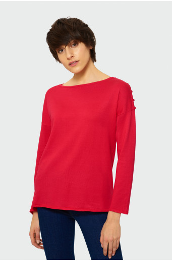 Sweater with decorative buttons