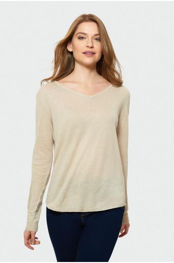 Klasický béžový sveter
