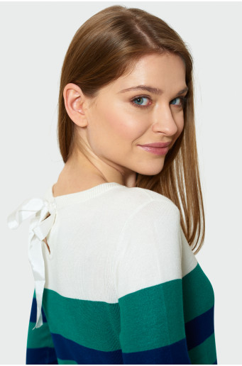 Sweater with decorative lacing