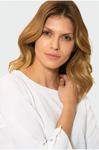 Classic blouse with bateau neck