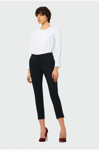 Elegantné čierne nohavice