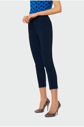 Elegantní tmavě modré kalhoty