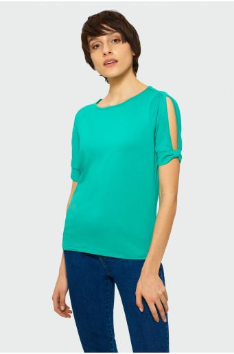 Klasický zelený top