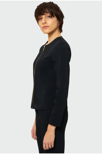 Classic zipped blazer jacket