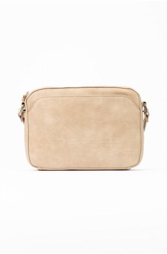 Small beige handbag