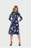 Midi šaty s květinovým vzorem