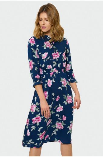 Midi šaty s kvetmi