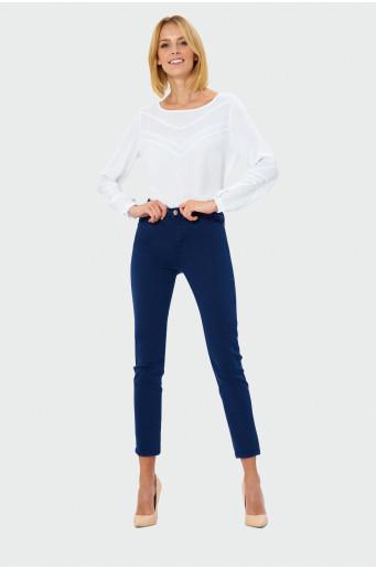 Tmavě modré twill kalhoty