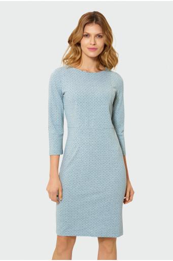 Sivé úzke šaty
