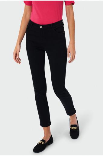 Čierne nohavice z twilu
