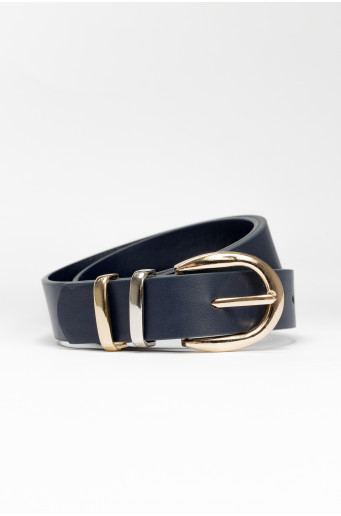 Two-color buckle belt