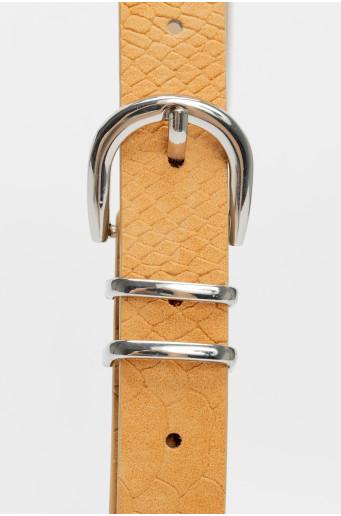 Snake skin belt