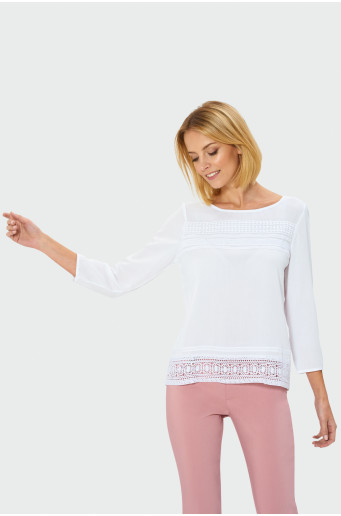 White elegant blouse