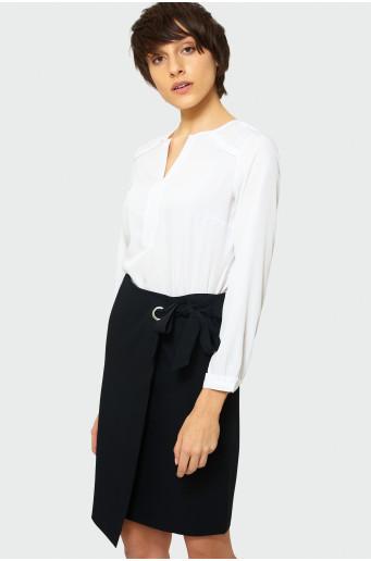 Elegantná prekladaná sukňa
