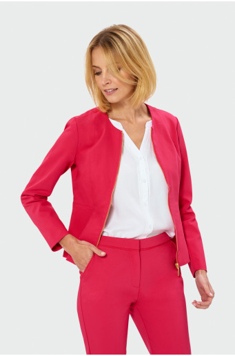 Classic zipped blazer jacket