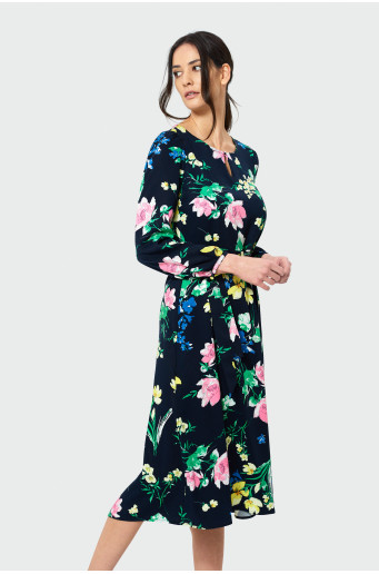 Viskózové midi šaty