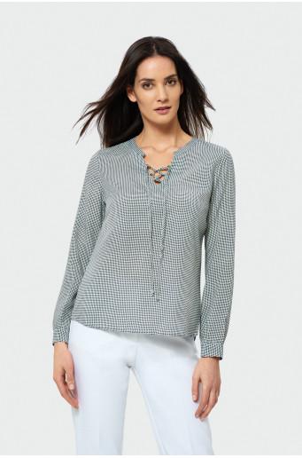 Elegant checked blouse
