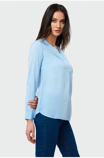 Elegantná modrá košeľa