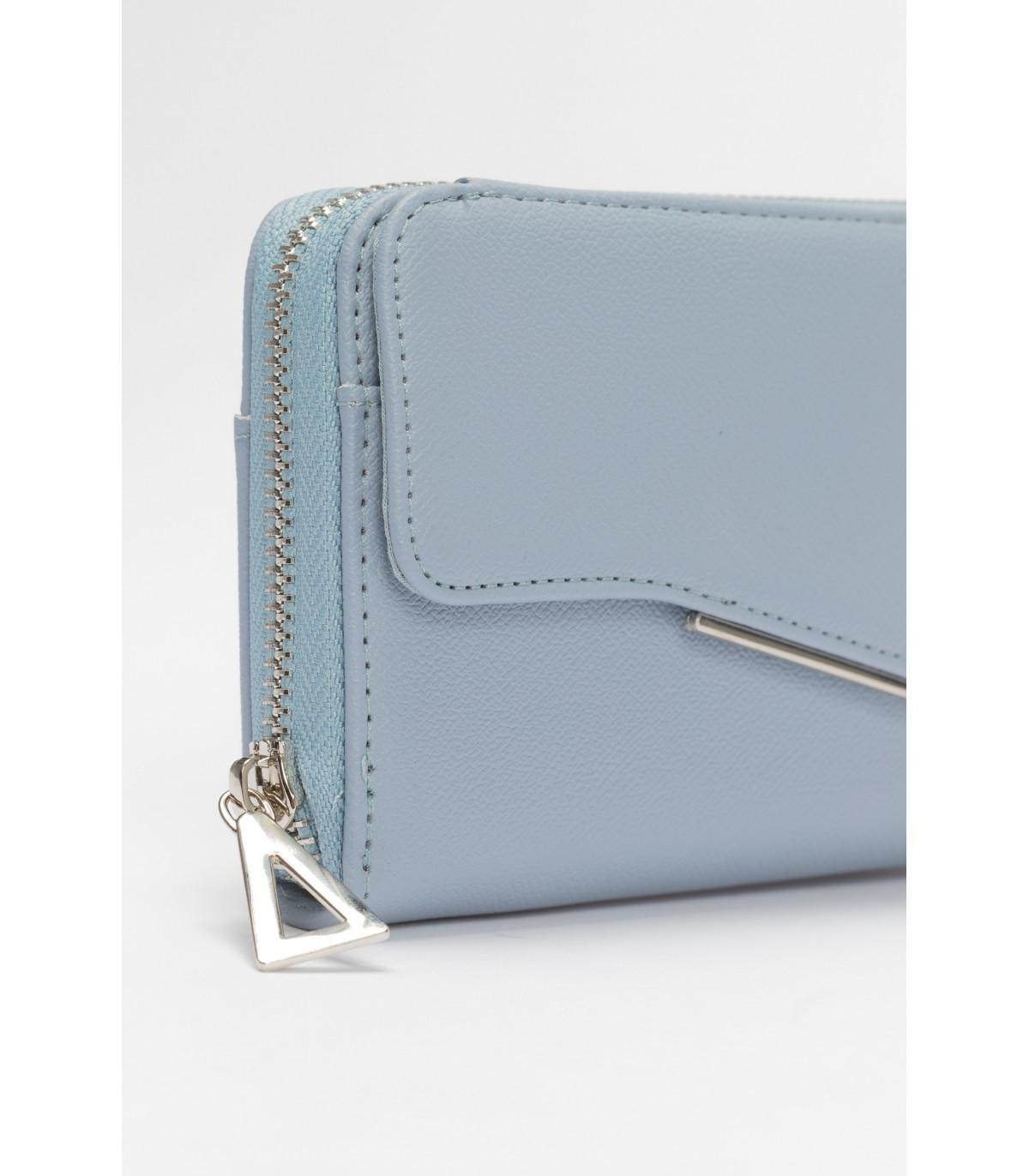 e06b76a04b6d Modrá peňaženka s kovovým zapínaním