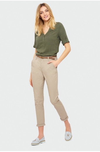 Bavlnené nohavice typu chino