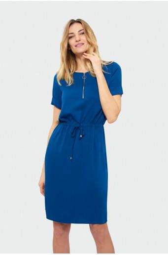 Klasické šaty s krátkym rukávom