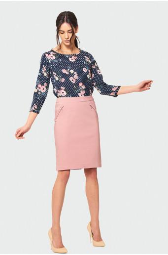 Pink pencil skirt