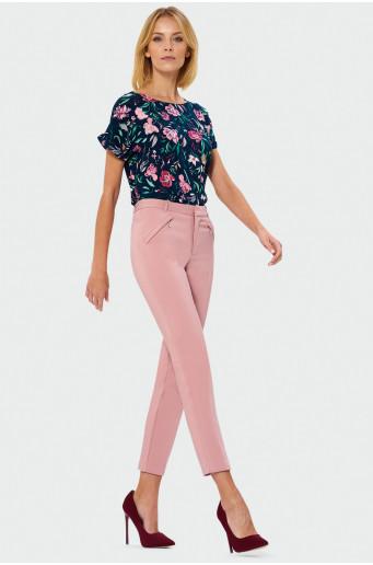 Klasické růžové kalhoty