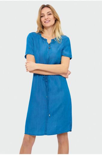 Denim color dress