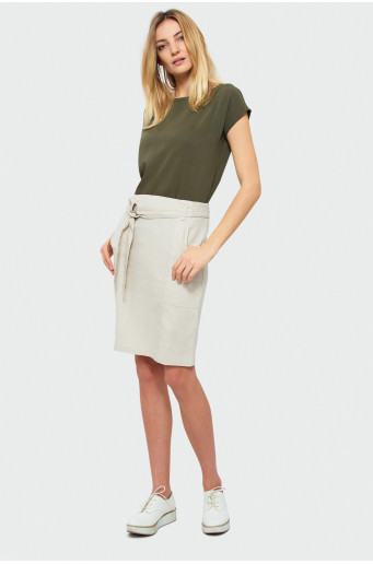 Skirt with linen