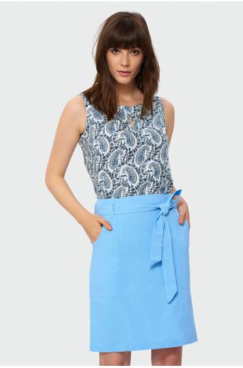 Ľanová sukňa