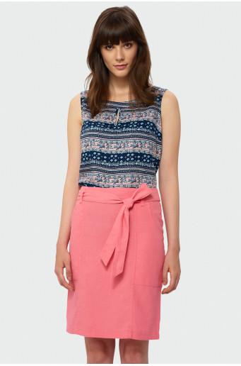 Lněná sukně