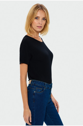 Čierny oversize top