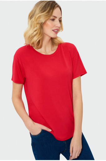 Red oversize top