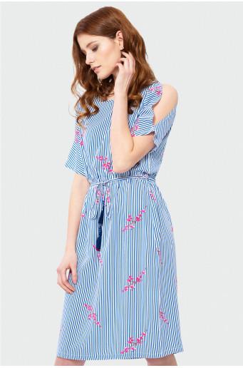 Gauzy short sleeve dress
