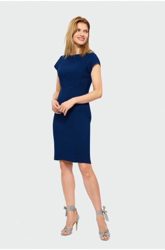 Elegantní modré šaty