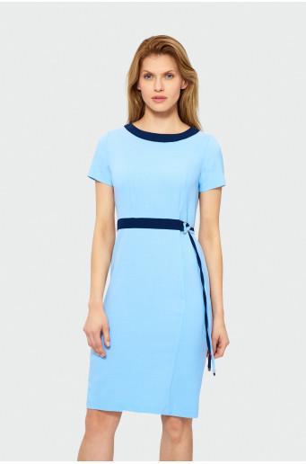 Elegantní blankytné šaty