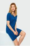 Volné šaty s krátkým rukávem