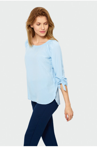 ¾ sleeve blouse