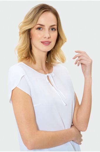 Biela blúzka s krátkym rukávom