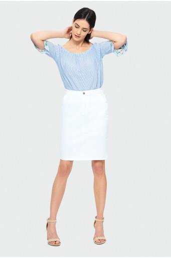 Bavlnená biela sukňa
