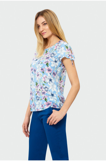 Blouse with print