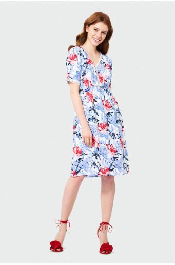 Gauzy over-the-knee dress