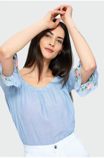 Elegant striped blouse